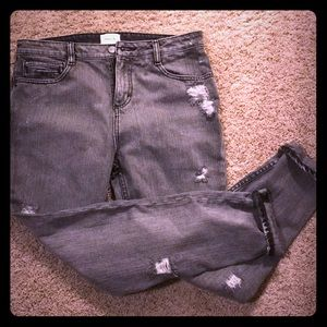 RVCA destroyed grey denim